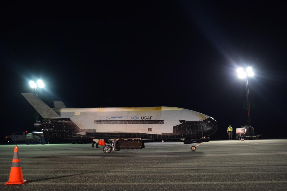 The X-37B OTV is an experimental test program to demonstrate technologies for a reliable, reusable, unmanned space test platform for the US Air Force