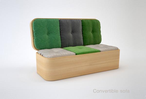 Convertible Sofa in its original sofa form (Photo: Julia Kononenko)