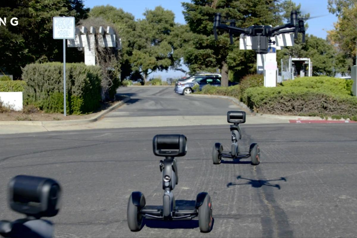 Nimbo is a Segway-based robot that can be programmed to follow particular routes or choose self-optimized paths all on its own