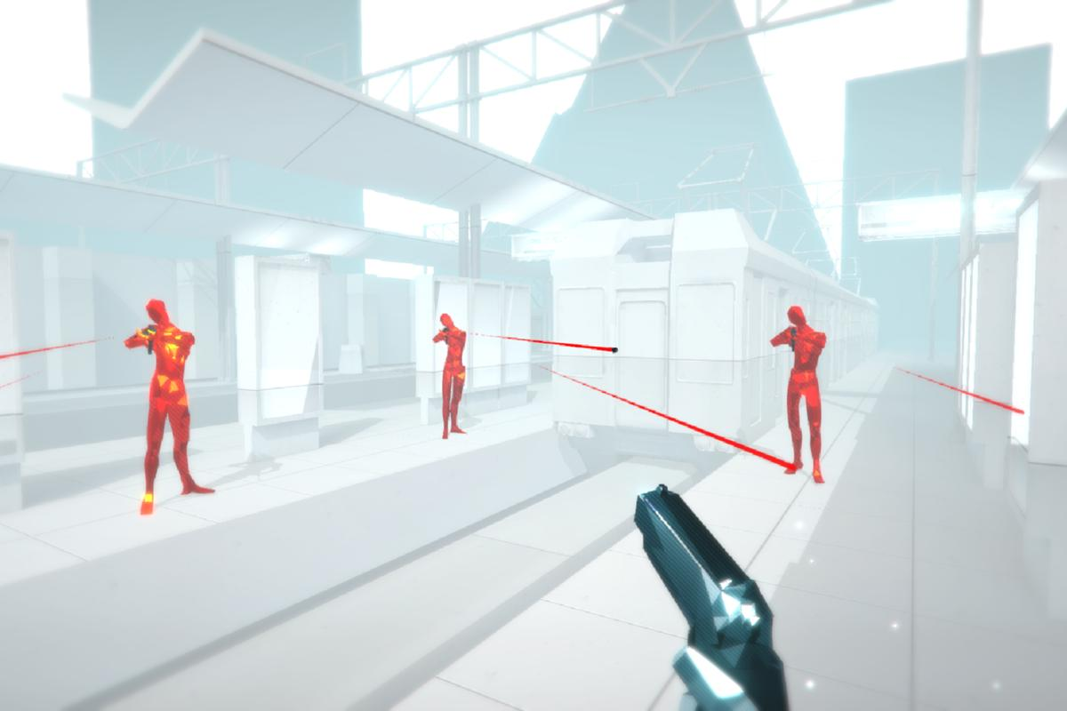 In Oculus Rift game Superhot, time only moves when you move