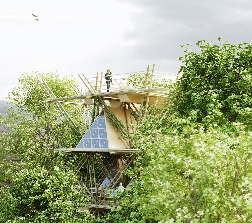 Penda's treehouse was designed for the AIM Legend of Tent competition (Image: Penda)