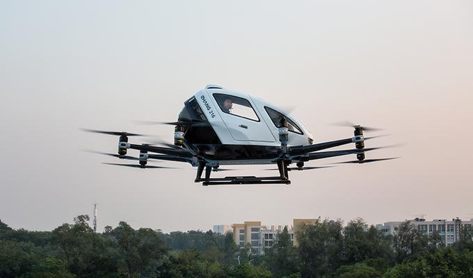 China's eHang has released video of its Yunfu eVTOL production facility that will turn out its eVTOL air taxis