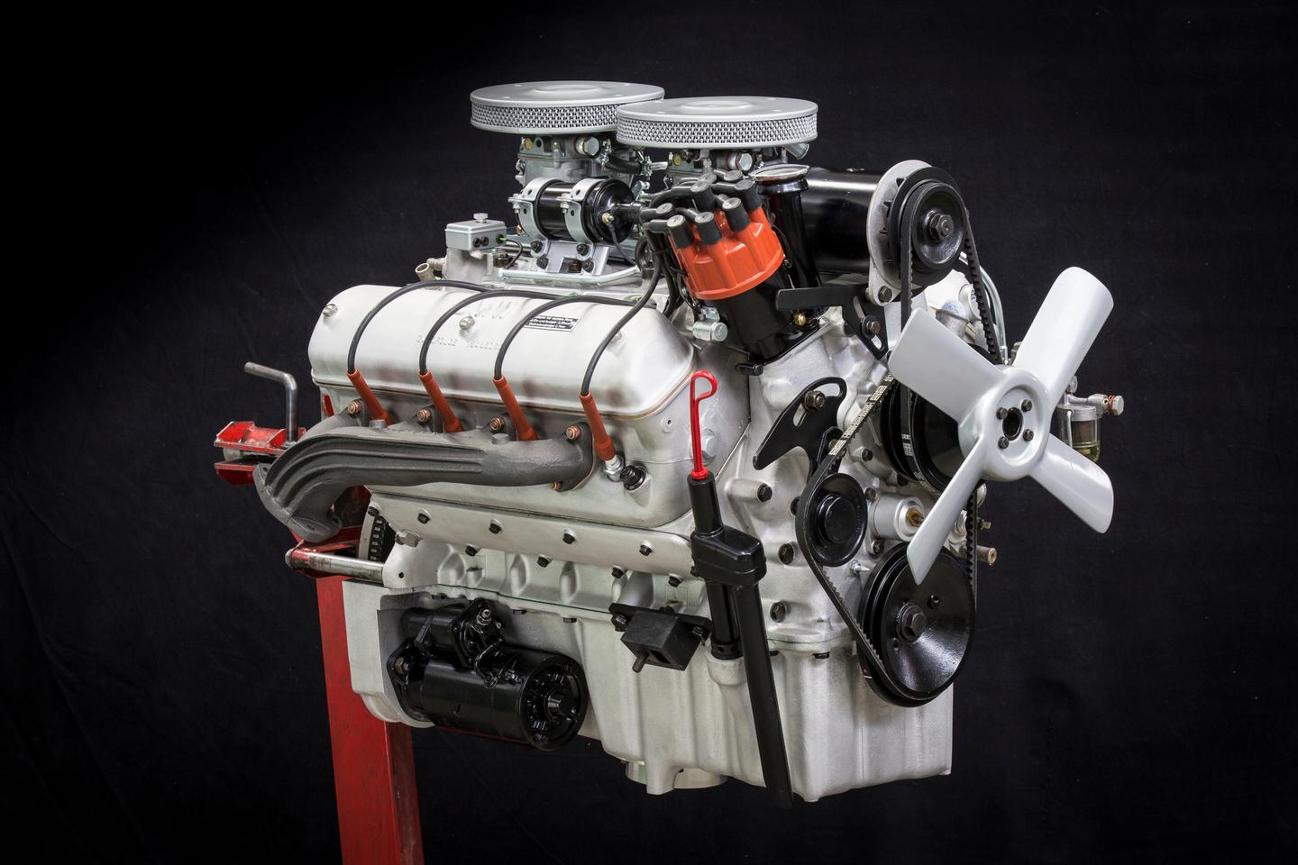 The 3.2-liter V8 engine was rebuilt using a combination of original and spare parts