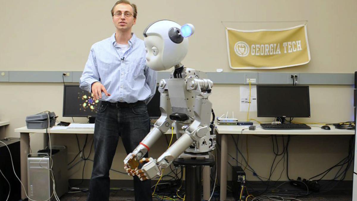 Michael Gielniak is teaching Simon to move more like a human