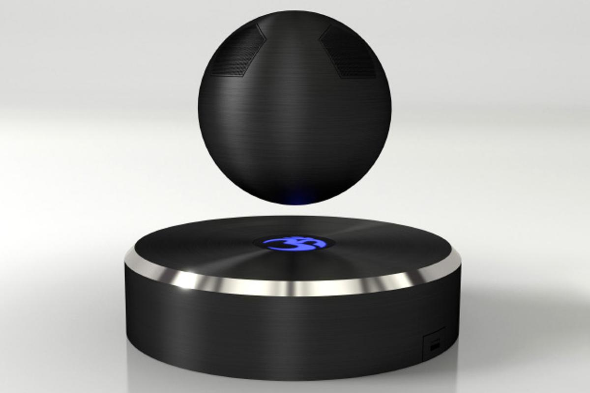 The OM/ONE Bluetooth speaker levitates using magnets