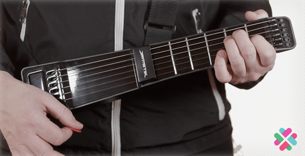 The JamStik is a compact digital guitar