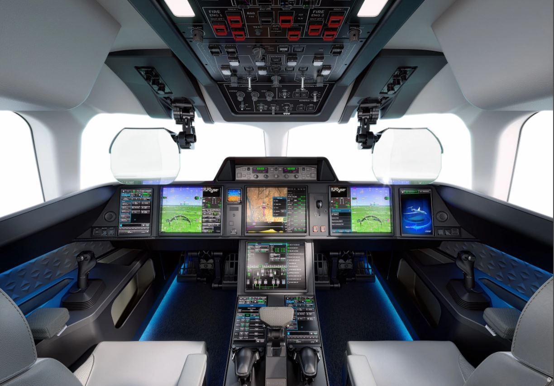 The Dassault Falcon 10X flight deck