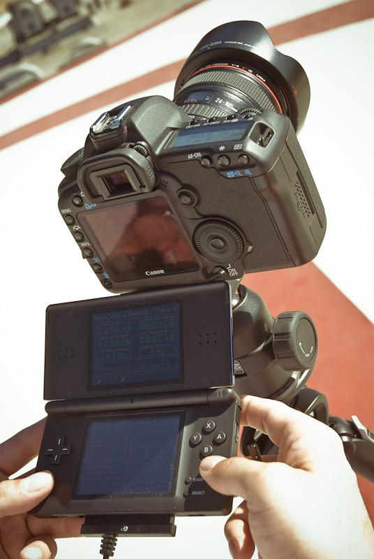 Cracking open and taking control of a digital camera's settings with a Nintendo DS