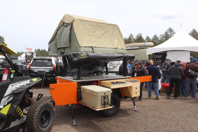 Backcountry-grade ATV camping trailer provides an electric