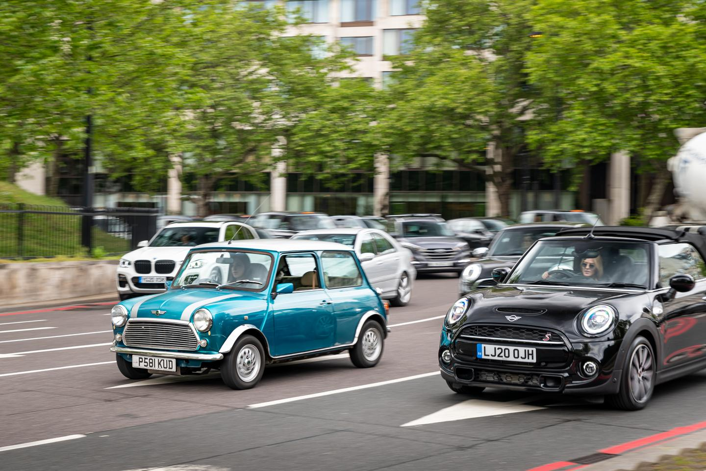 London Electric Cars will convert a classic Mini (left) to all-electric drive for £25,000