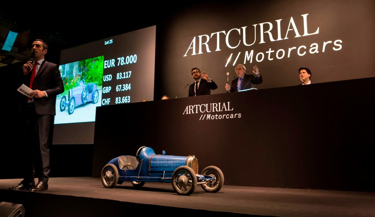 """This Bugatti """"Baby""""sold in Paris on February 10, 2017 for $99,000"""