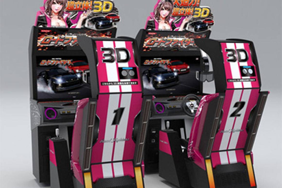 Konami brings 3D Road Fighters racing game to arcades