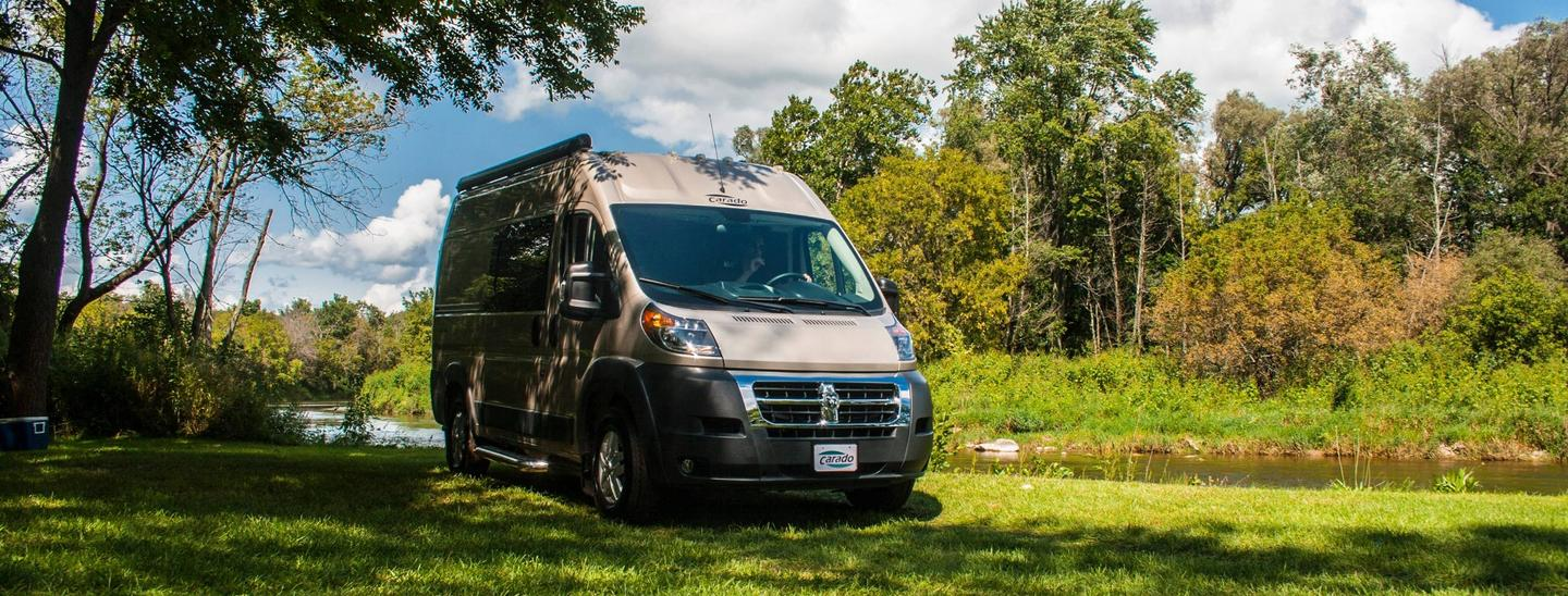 Erwin Hymer Group brings some European-inspired camper vans over the Atlantic with offerings like the Carado Axion