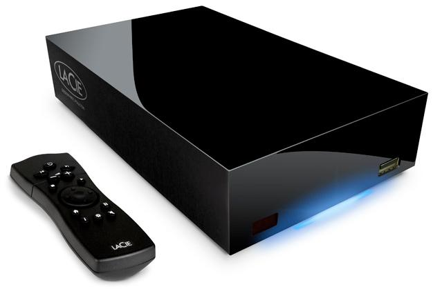 The LaCie LaCinema Classic HD, now with up to 2TB internal storage, DLNA servier and 802.11n Wi-Fi for that HD multimedia experience at home