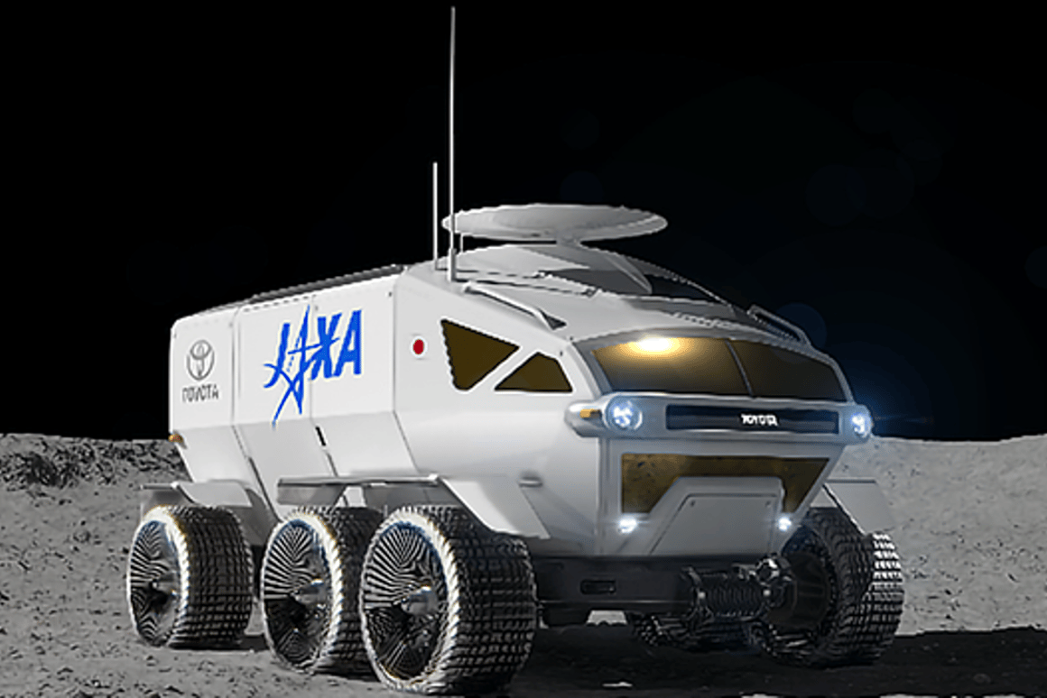 Artist's concept of the JASA/Toyota lunar rover