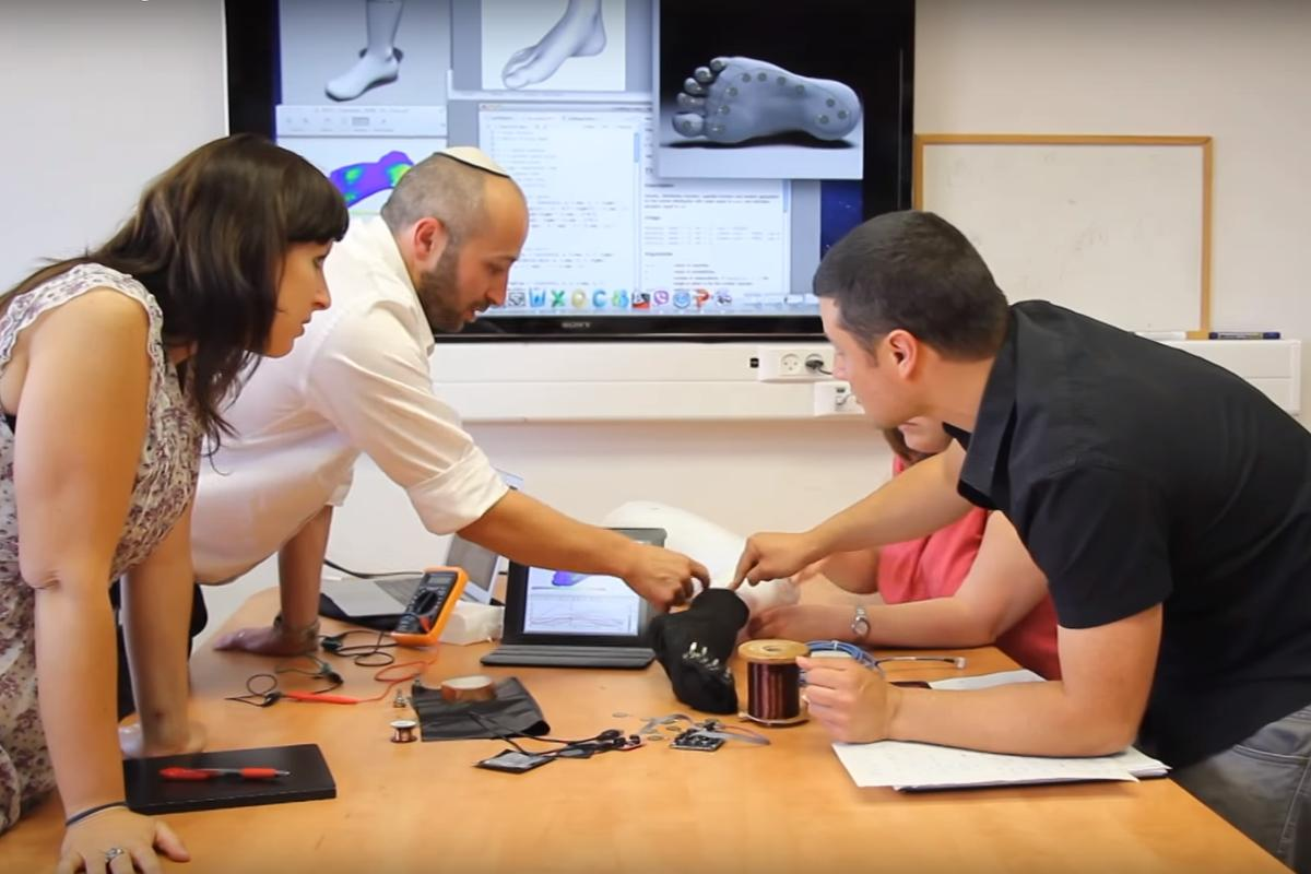 Researchers test a prototype SenseGO sock