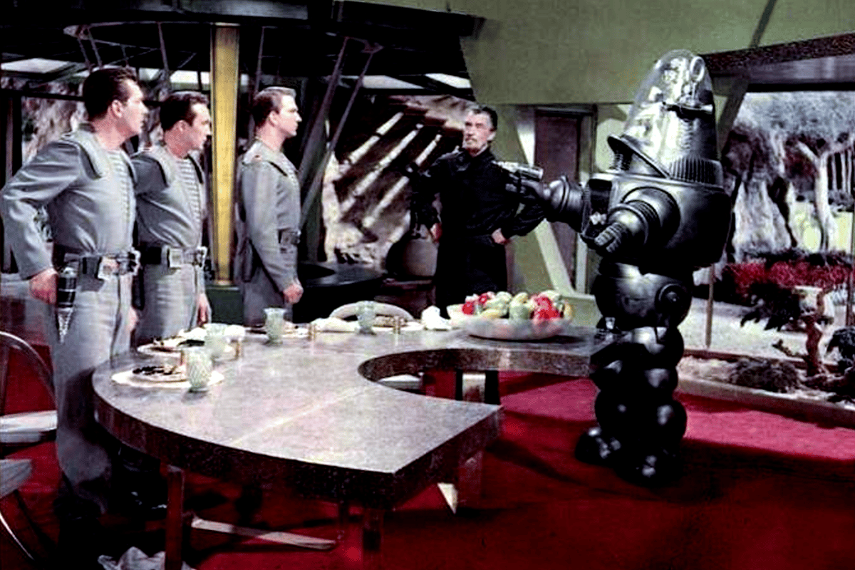"Robby starred in the 1956 science fiction feature ""Forbidden Planet"""