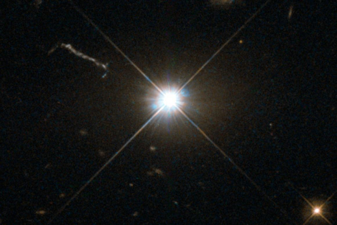 Astronomers have spotted the fastest-growing – and one of the brightest –supermassive black holes