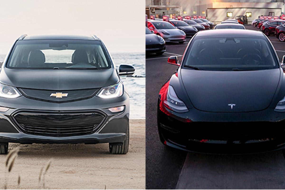 We compare the Chevy Bolt and Tesla Model 3