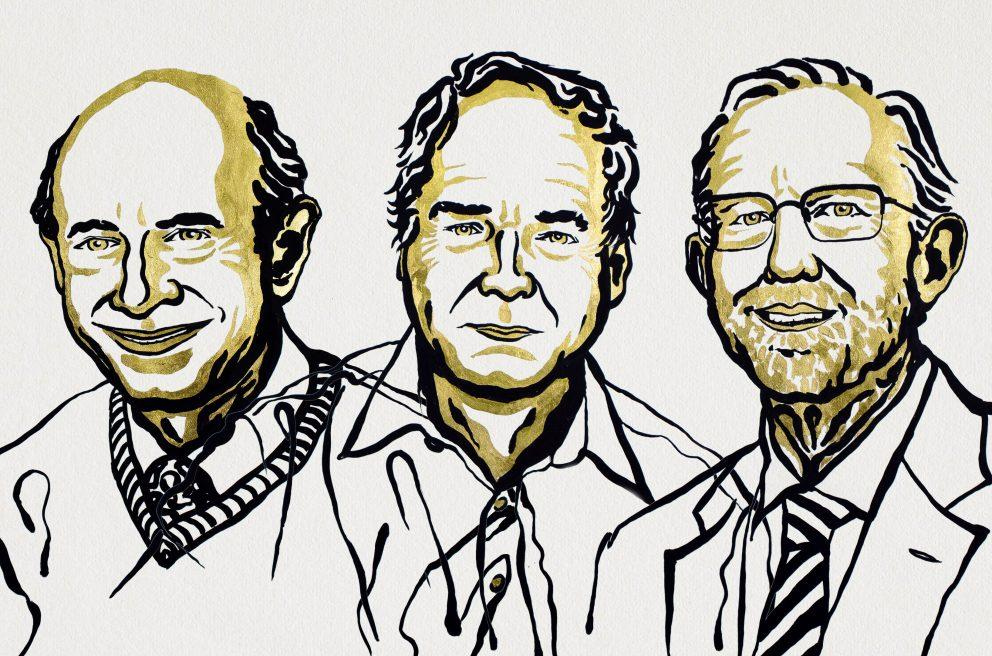 Winners of the Nobel Prize in Physiology or Medicine for 2020, from left to right, Harvey J. Alter, Michael Houghton and Charles M. Rice