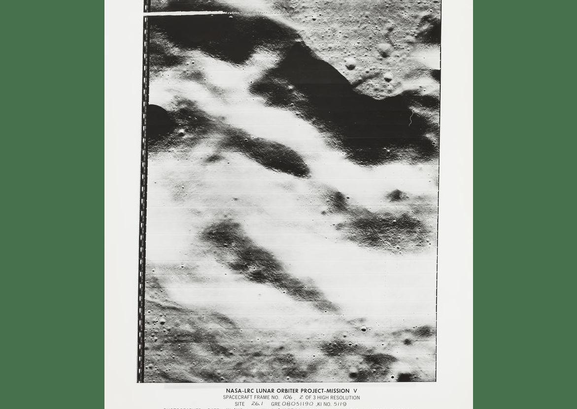 Lunar Orbiter V original photograph (Photo: Bonhams)