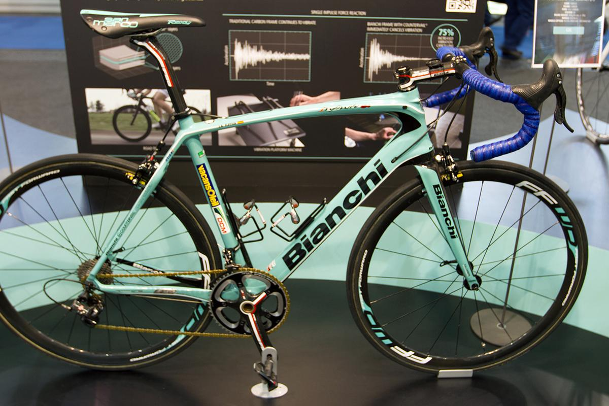 Countervail was recently introduced in Bianchi's Infinito CV road bike