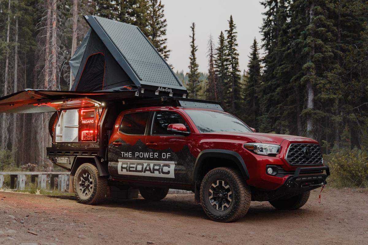Redarc highlights its battery management hardware with its Tacoma build