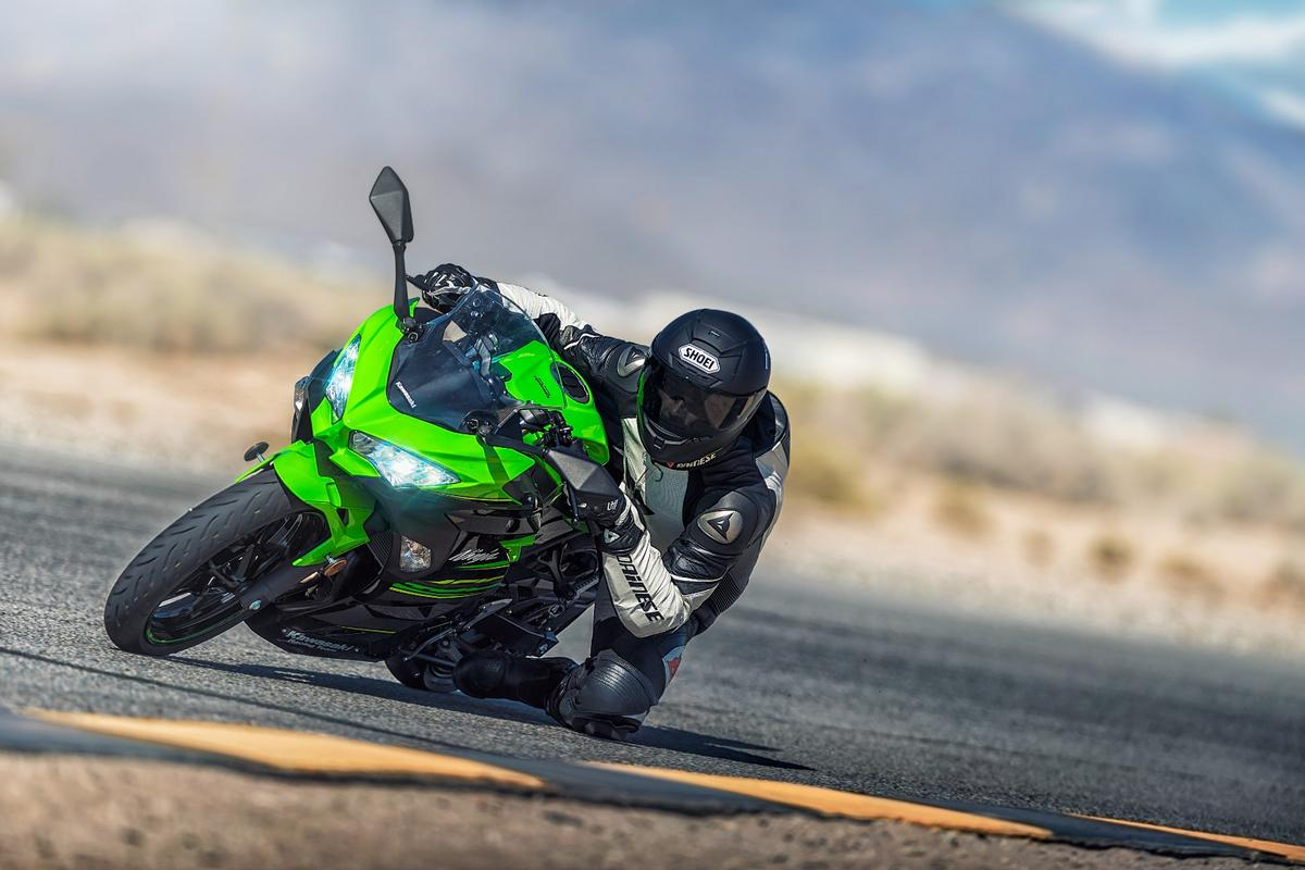 The Kawasaki Ninja 400 is lighter and sportier on paper than the 300