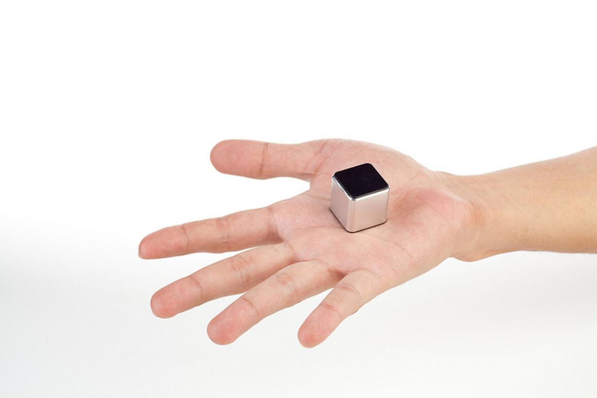 The makers of the just-launched theKube2 claim that it is the world's smallest touchscreen MP3 player