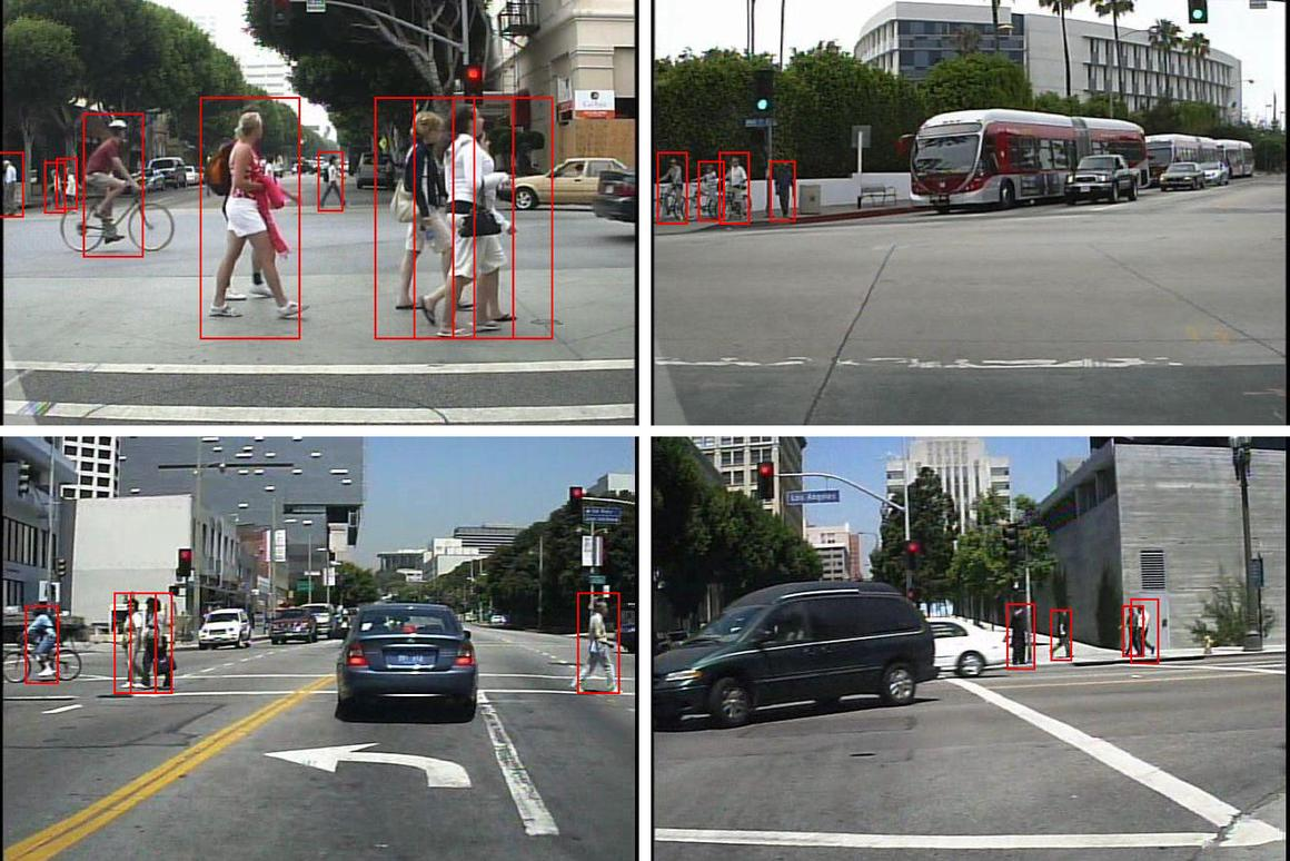 The goal was real-time vision so that the computer would be capable of recognizing and categorizing objects, especially humans, in normal urban driving conditions