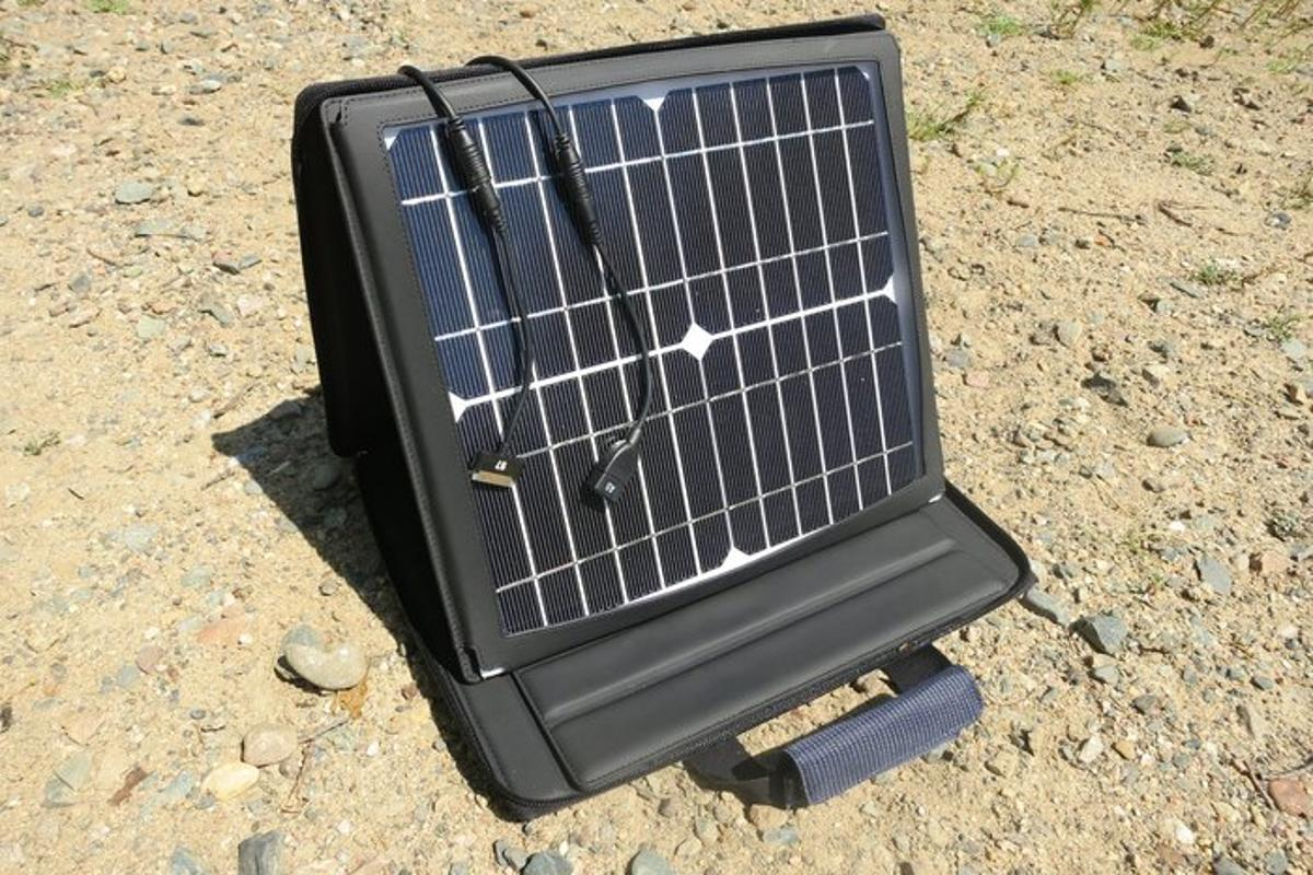 SunVolt is a portable solar charging station which is said to charge multiple devices as quickly as a wall socket