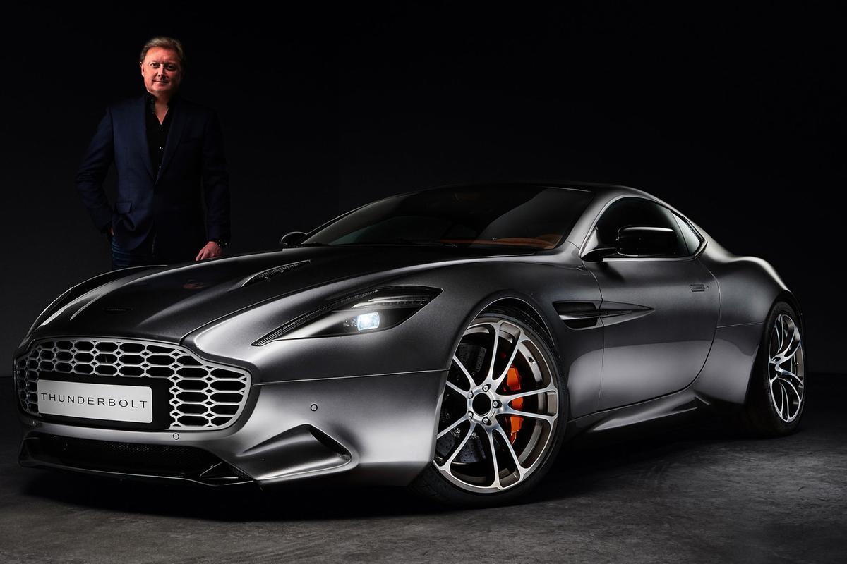 Henrik Fisker's Thunderbolt design study based on the Aston Martin V12 Vanquish coupe