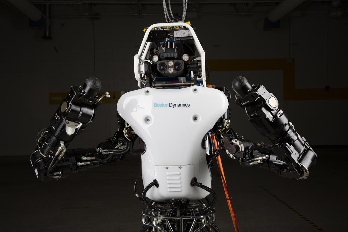 The redesigned Atlas robot has an on-board lithium-ion battery (Image: DARPA)