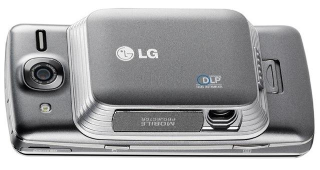 The LG eXpo is the first device in North America with an optical integrated pico projector.