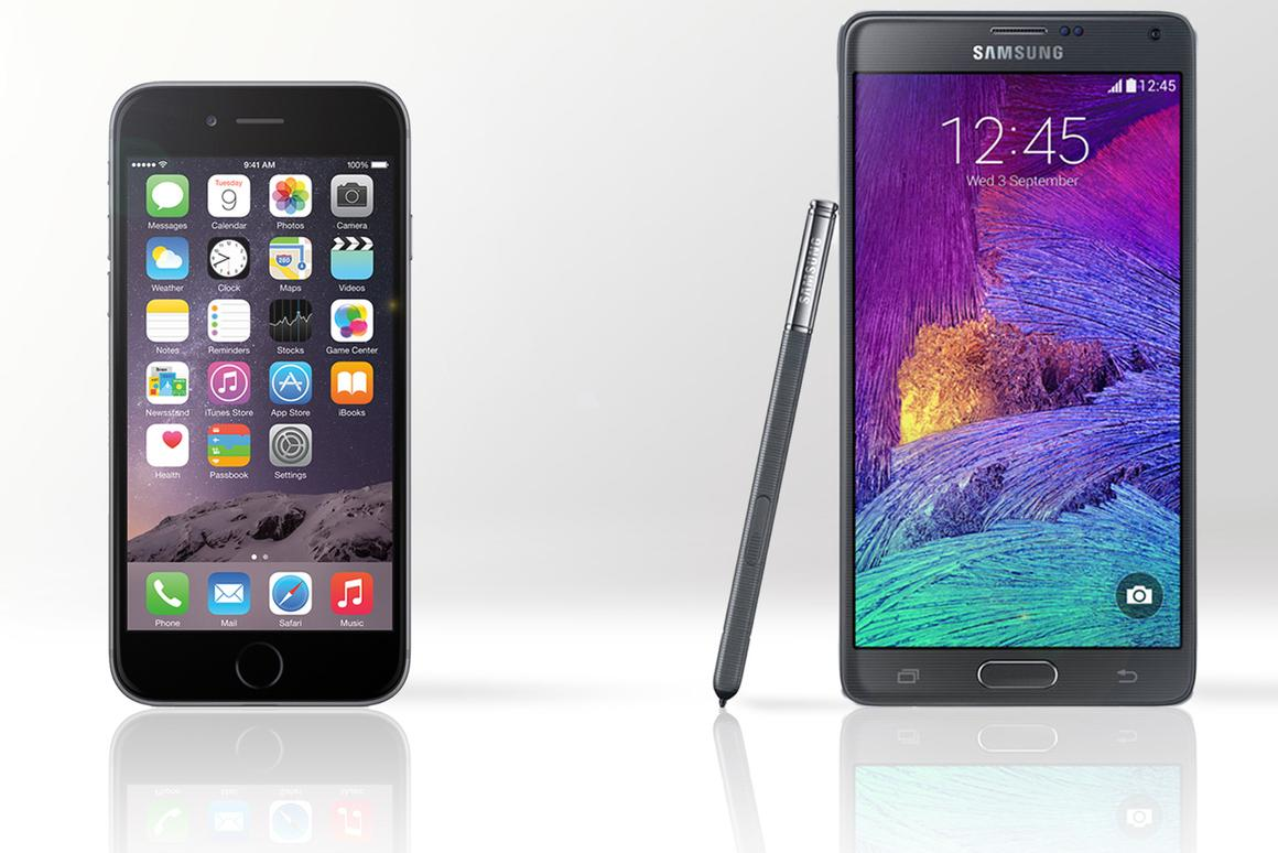 Gizmag compares the features and specs of the Apple iPhone 6 (the smaller 4.7-in version) and the Samsung Galaxy Note 4