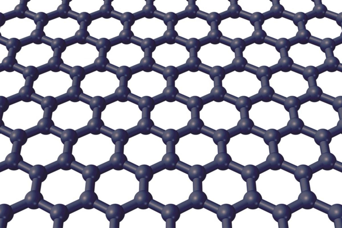 A diagram of graphene, which can detect individual airborne molecules as they bond with it and are released