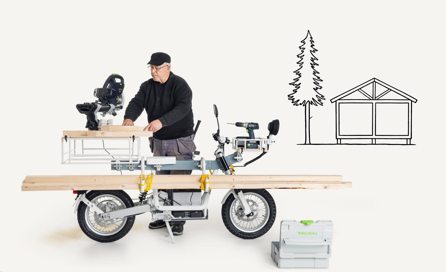 The Ösa utility e-bike has been designed as a workbench on wheels