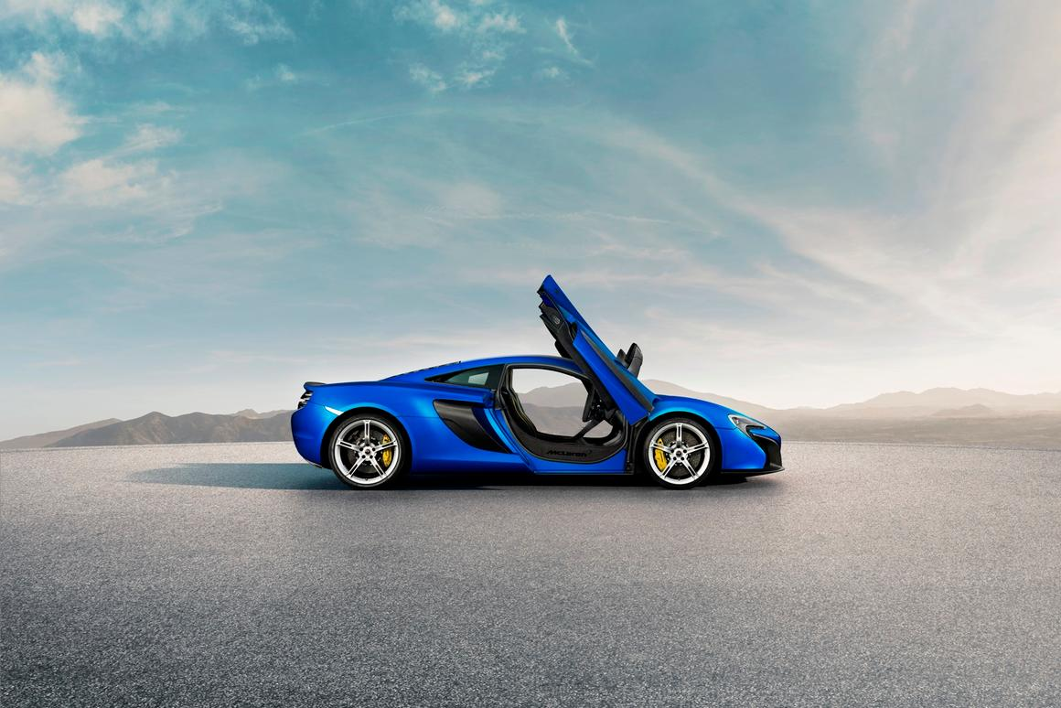 The 650S receives a tweaked twin-turbocharged V8 similar to the 12C, but develops 641 hp versus the latter's 616 hp