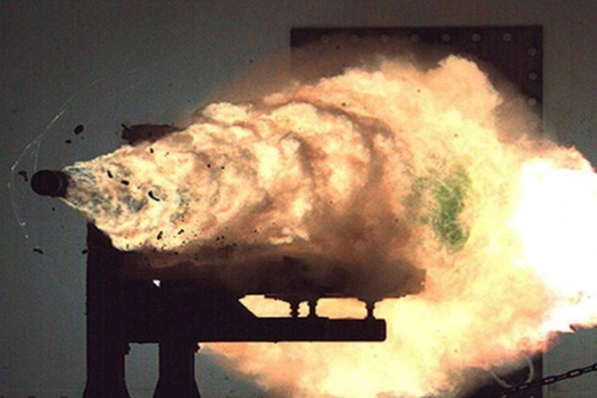 The first firing of the railgun in January 2008, was an historic and spectacular occasion