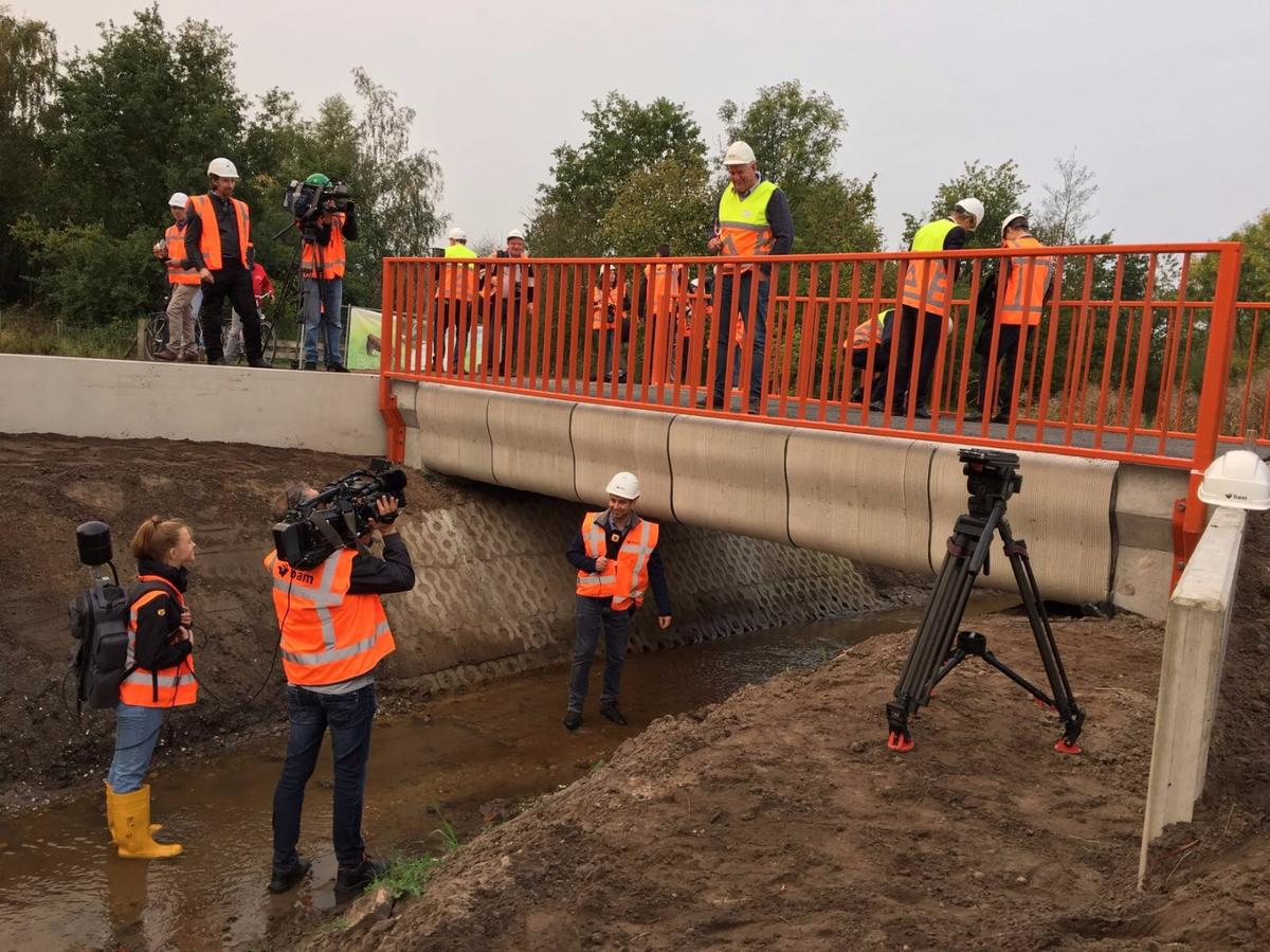 A new 3D printed bridge has just opened up in the Netherlands