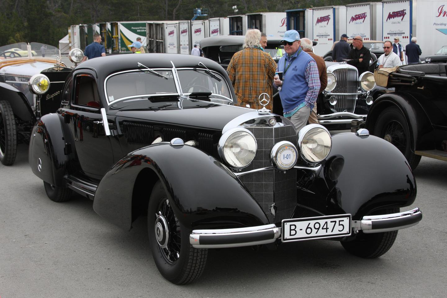 Best Of Show at the 2021 Pebble Beach Concours d'Elegance was this 1938 Mercedes-Benz 540K Autobahn Kurier from The Keller Collection at The Pyramids, Petaluma, California