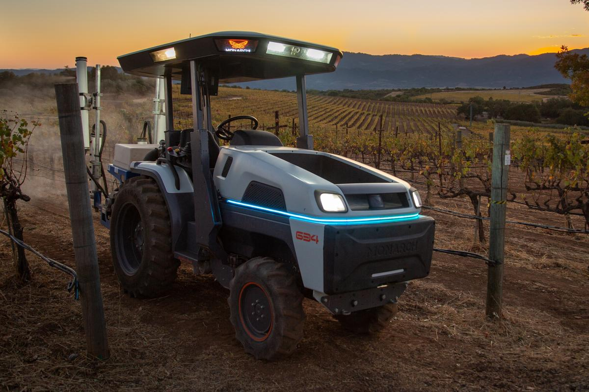 The creators of the all-electric Monarch Tractor believe it is the smartest tractor in the world
