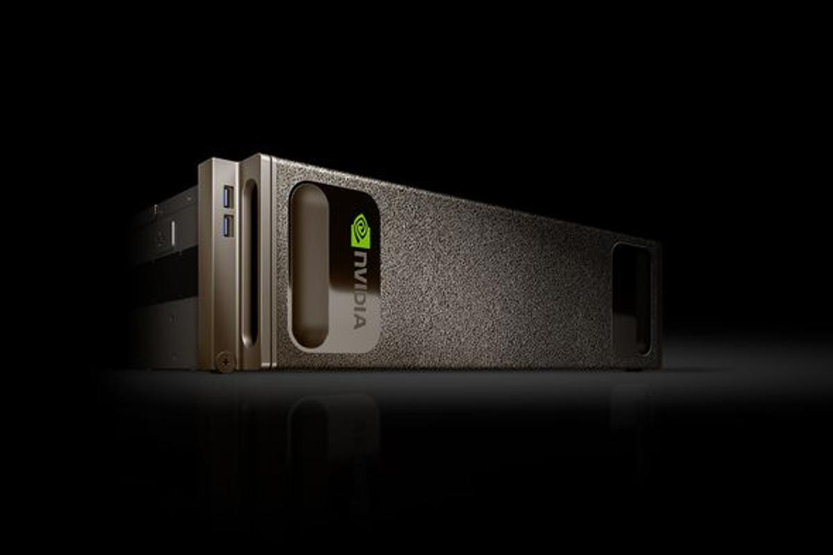 Nvidia's DGX-1 has eight Tesla GP100 GPUs, each with 16 gigabytes of memory