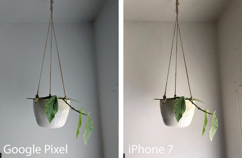 Photo comparison, indoor natural light