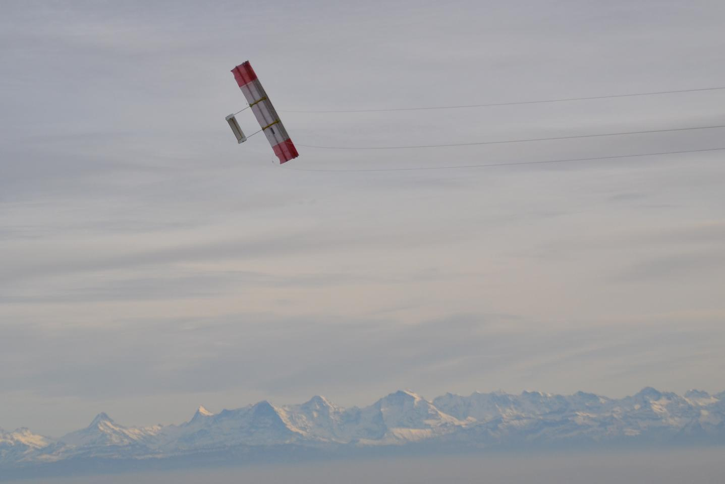 TwingTec's prototype Twing above the Swiss Alps
