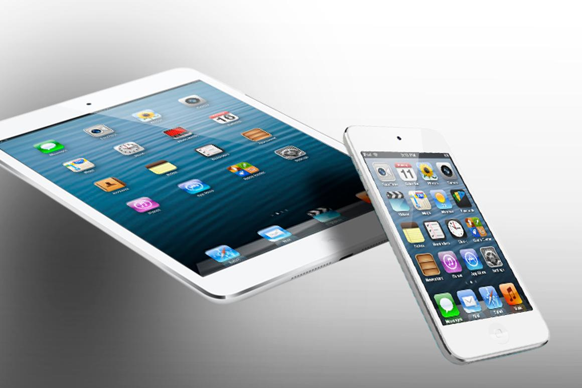 How does the iPad mini compare to the iPod touch 5G?