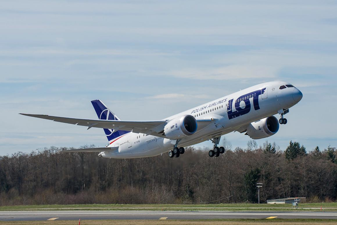 The 787 Dreamliner used in the test