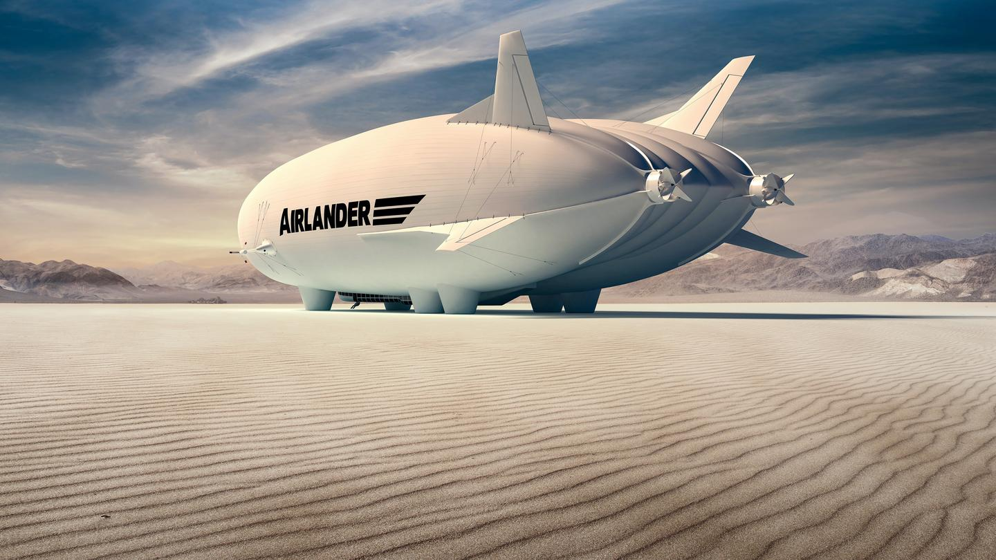 The production Airlander 10 will have retractable landing gear