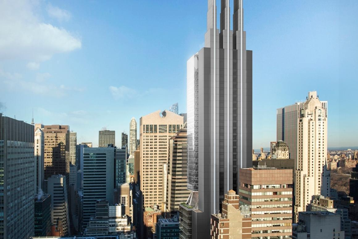 425 Park Avenue will cover an area of 47,523 sq m (511,538 sq ft) and will stand at 206.5 m (677.5 ft) tall
