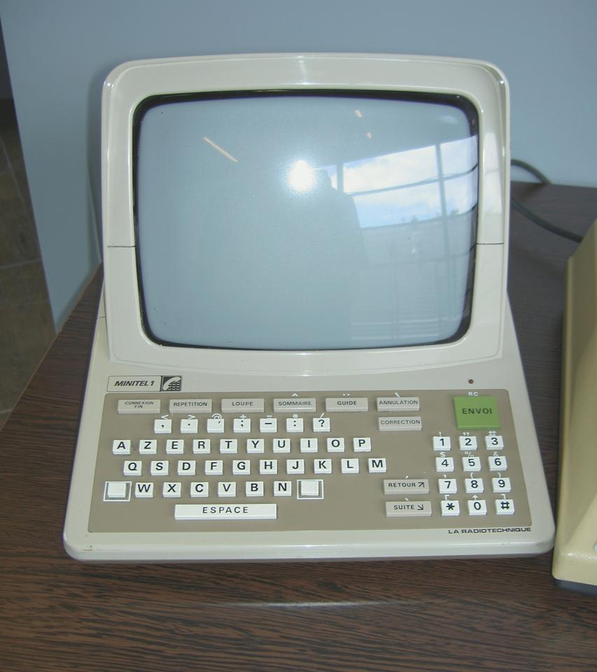 France's Minitel used a simple keyboard and CRT terminal